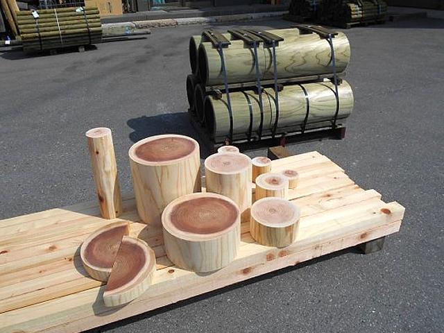 丸棒材・輪切り木工品