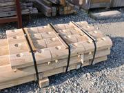 木製ガードレール用部材