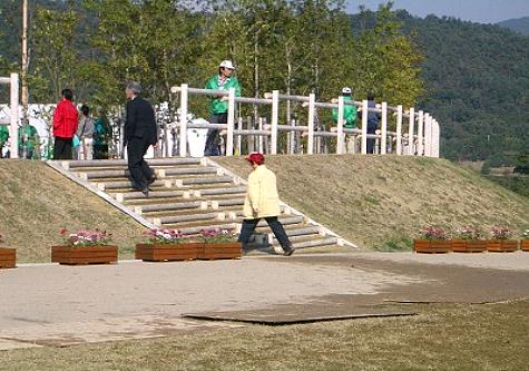 (写真)兵庫県三田市 県立有馬富士公園(全国育樹祭式典会場)