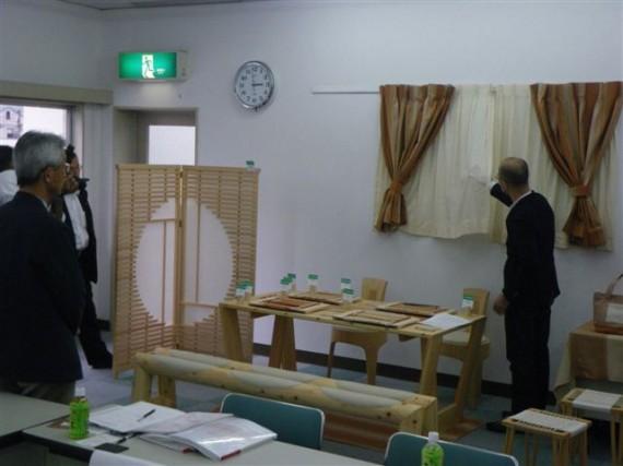 多可ひのき木綿・製品説明会 ひのき木工品(テーブル・椅子・つい立)