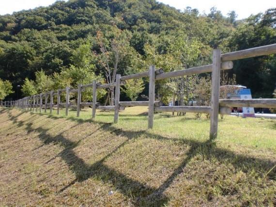 「県立有馬富士公園」 育樹祭時に施工した木柵
