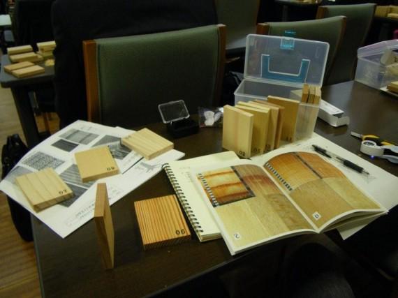講座 「木の見分け方と基本的性質を学ぶ」で、実際に木のサンプルを使って講義がありました