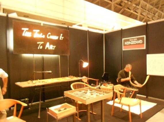 個別展示で「ブランド発信」に努めていた三木金物メーカーのブース
