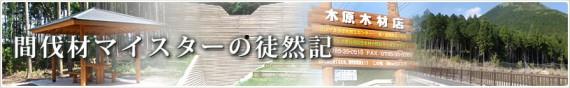 間伐材ブログ「間伐材マイスターの徒然記」のタイトル・バー