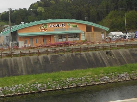 天竜川沿いの「水制工」と「木柵工」