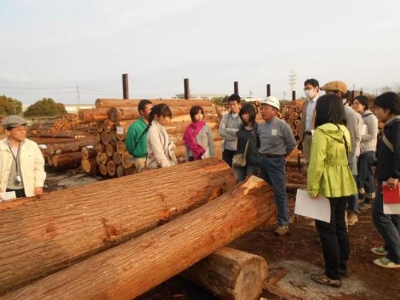 「静岡県森林組合連合会・天竜共販所」の見学