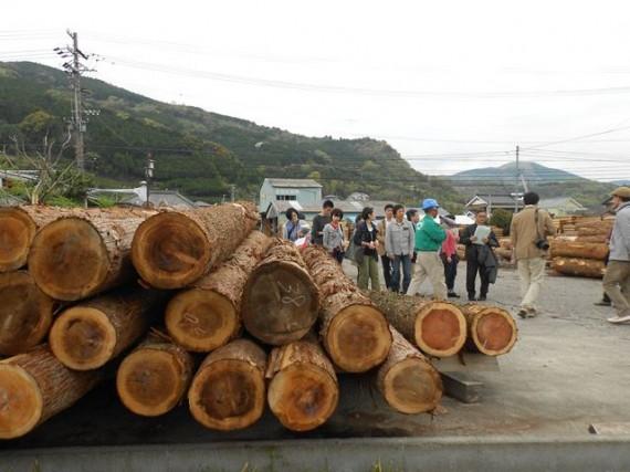 「金原治山治水財団」の生産材を製材する製材所の見学