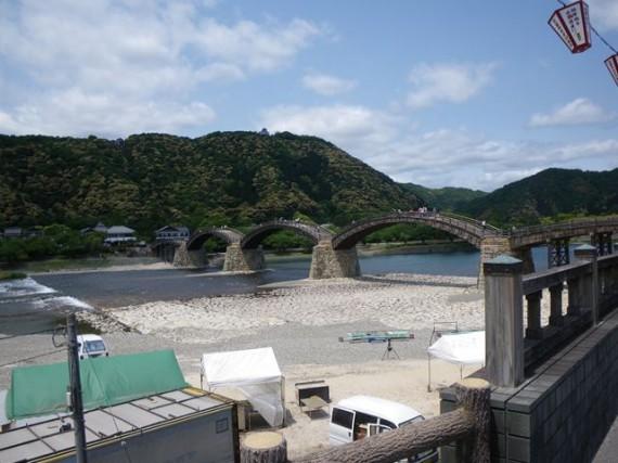岩国「錦帯橋」の『木橋』も見て来ました