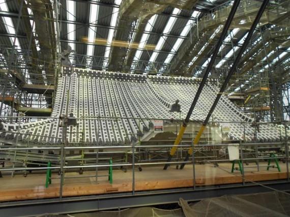 「姫路城大天守保存修理事業」の現場 大天守・7層目の様子