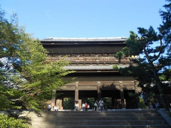 『丸柱・円柱巡礼』第7号  南禅寺・三門(山門)