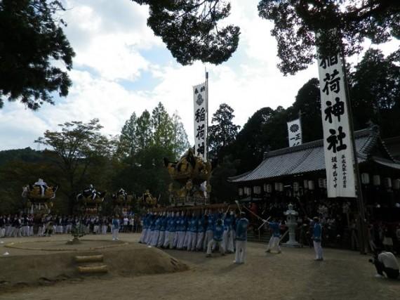 播州糀屋稲荷神社・秋祭り 太鼓屋台の奉納
