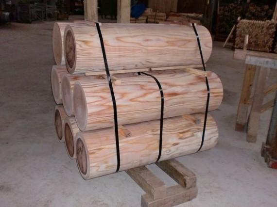 ロータリー丸太(丸棒・円柱丸太) 直径30cm (こんな製品を多く生産したい)