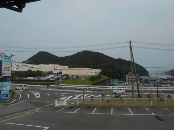 大規模「水産物販売所」と運営する漁協 (漁協の施設が小さく見えます)