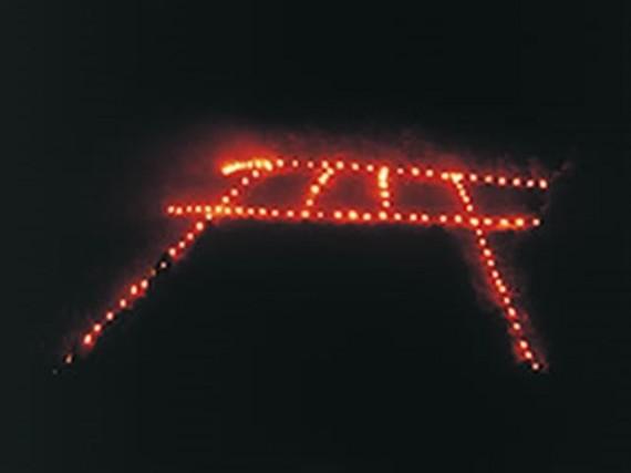 五山送り火「鳥居形」の点火風景 (京都市観光協会のHPから)