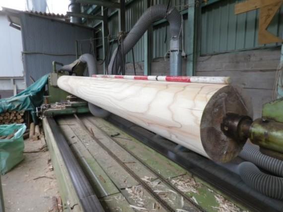 直径30cm・300mmの円柱材(加工後)
