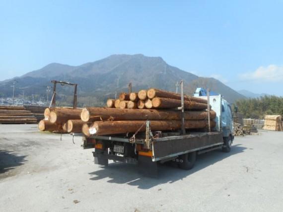 第2木場に引き取った「6m長尺材」