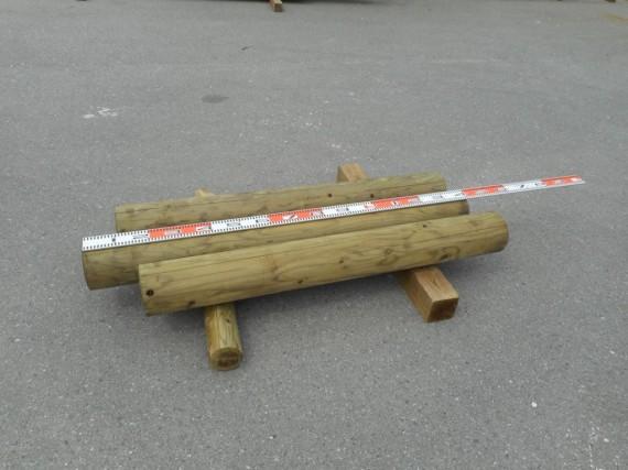 『訳あり丸太』  (戻って来た「円柱材・間伐材」 防腐処理済) 直径160mm*L=1300-1400