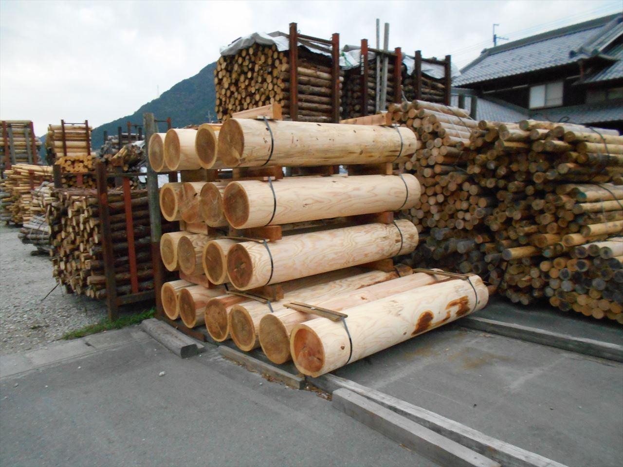 日本伐木チャンピオンシップin鳥取、競技用丸太(Φ35cm)を加工しました。